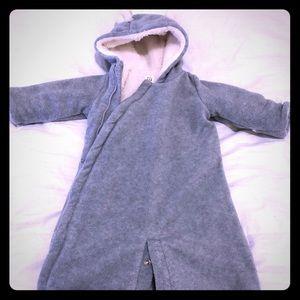 Baby gap 0-3 month winter onesie coat